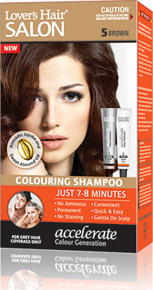 Lover's Hair Colouring Shampoo No. 5 Brown