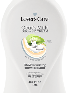 Lover's Care Goat's Milk Shower Cream-Aloe Vera 40.7 Fl. Oz