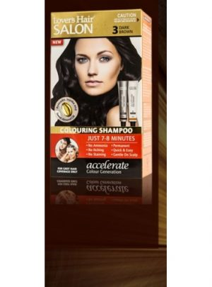 Lover's Hair Colouring Shampoo No. 3 Dark Brown