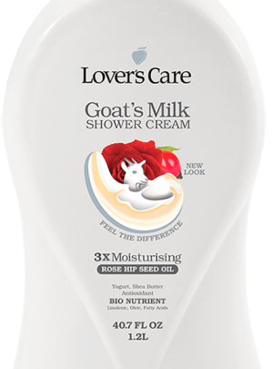 Lover's Care Goat's Milk Shower Cream-Rose Hip Seed Oil 40.7 Fl. Oz