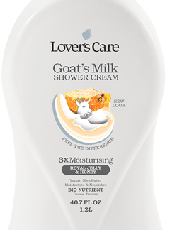 Lover's Care Goat's Milk Shower Cream-Royal Jelly & Honey 40.7 Fl. Oz